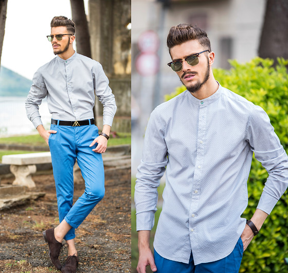 Gian Maria Sainato - X Cape, Antoni Manuel, X Cape, Church's, Ray Ban Ray Ban - TUCKED OR UNTUCKED SHIRT?