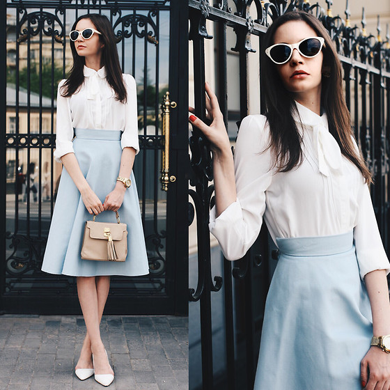 Anna Brain - Oasap Blouse, Pepen Skirt, Marc By Jacobs Watch, Vintage Cat Eye Sunglasses - A MIDSUMMER NIGHT'S DREAM