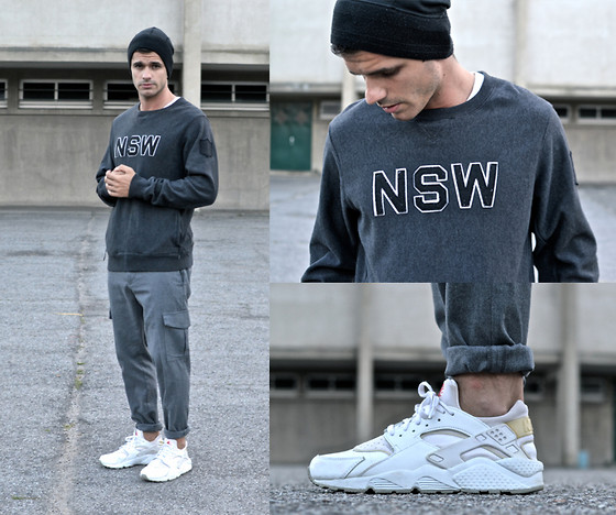 Boris Cornilleau - Nike Nsw Sweater, Number (N)Ine Beannie, Dockers Cargo Pants, Nike Air Huarache Le Sneakers - LXXXVII - SFNSW