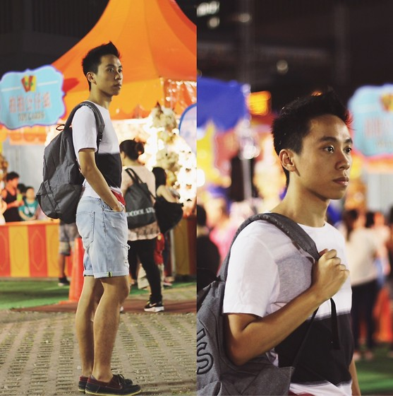 Daniel Poon - Vans Backpack, Zara T Shirt, Zara Ripped Short - Keep Calm and Carry On!