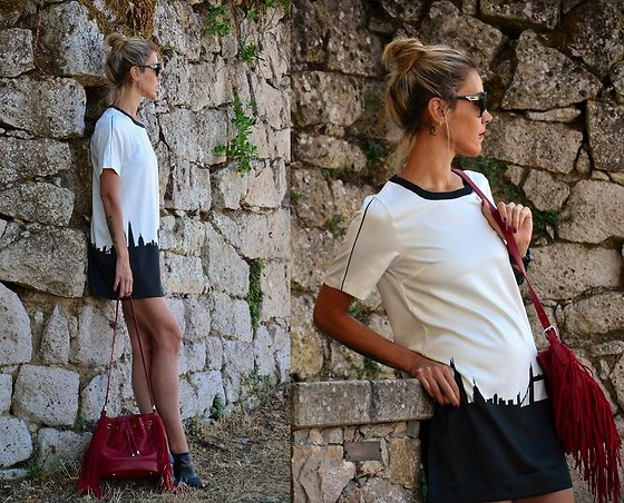 ASIA (IN &OUT BLOG) - Oasap Dress, Stradivarius Bag - Zamek w tle..