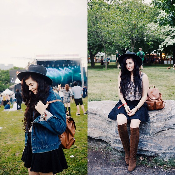 Noelle Downing - Coach Backpack, Thrifted At Crossroads Trading Boots - Gov Ball