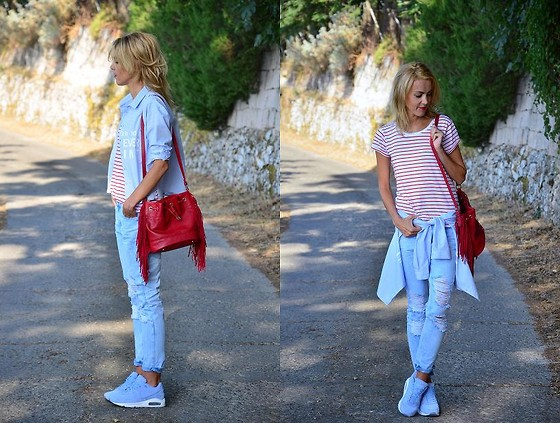 ASIA (IN &OUT BLOG) - Stradivarius Bag, Stradivarius Jeans, Nike Shoes, Bershka Shirt, Stradivarius Top - Zachod..