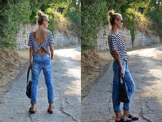 ASIA (IN &OUT BLOG) - Top, Stradivarius Jeans - Paski ..2..