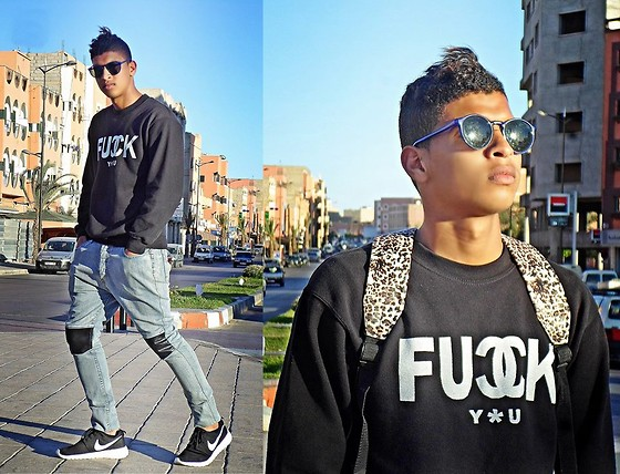 Bachir HA - Ray Ban Sunglasses By:, Chanel Shirt By :, Guylook Jean By :, Nike Rosherun Shoes By: - FUCK YOU