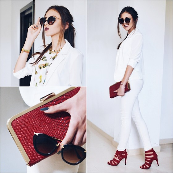 Emma Pavel - Bershka Red Sandals - Keep It Classy