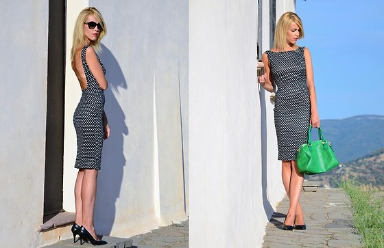ASIA (IN &OUT BLOG) - Dress, Bershka Shoes, Missoni Sunnies - Kropki