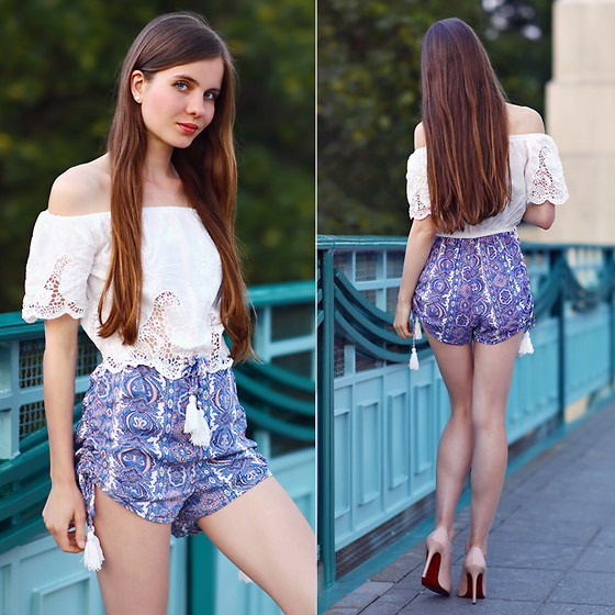 Ariadna Majewska - White And Blue Playsuit - Playsuit