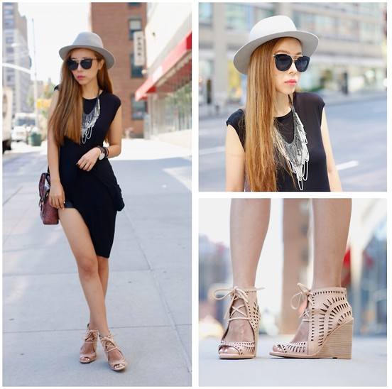 Sasa Zoe - Tank, Only $20 Sunglasses, Necklace, Wedges, Wedges, Watch, Bag, Hat - LOLLAPALOOZA