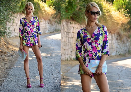 ASIA (IN &OUT BLOG) - Oasap Romper, Bershka Shoes - Floral romper..