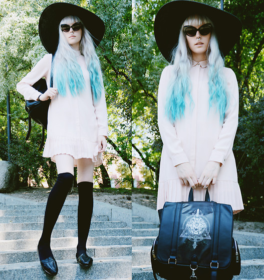 Anna Jaroszewska - H&M Hat, Brylove Glasses, Pierce Of Cake Septum Clicker, Mohito Dress, Restyle Occult Backpack, Pull & Bear Shoes - Incognito
