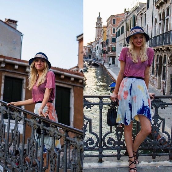Eleonore Marie Stifter - Zara Skirt, Isabel Marant T Shirt, & Other Stories Sandals, Mcm Bucket Bag - Welcome to Venice