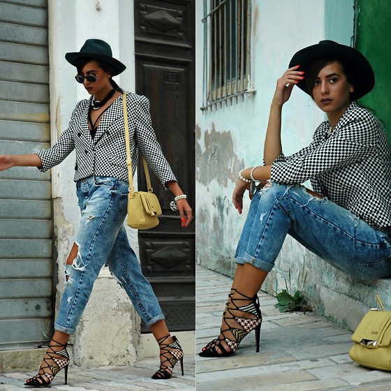 Fransi - Liu Jo Bag, Zara Heels, Bershka Jeans, Zara Jacket, Asos Sunglasses - Shades of cool