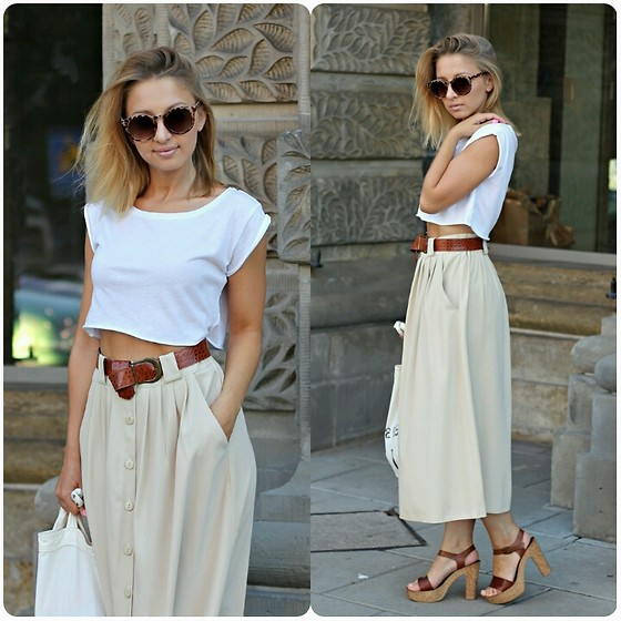 Emilia Błaszczyk - Bata Sandals, Primark Sunglasses, Second Hand Skirt - Idealna spódnica z Second Handu