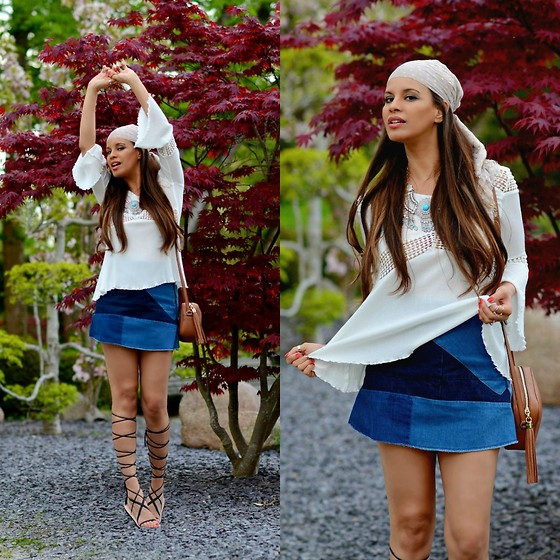 Tamara Chloe - Zara Skirt, Gucci Bag, Lookbookstore Top, Zara Gladiator Sandals, Lookbookstore Necklace - Tunic Dream