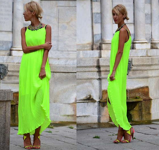 ASIA (IN &OUT BLOG) - Choies Dress, Choies Necklace - GREEN MAXI..
