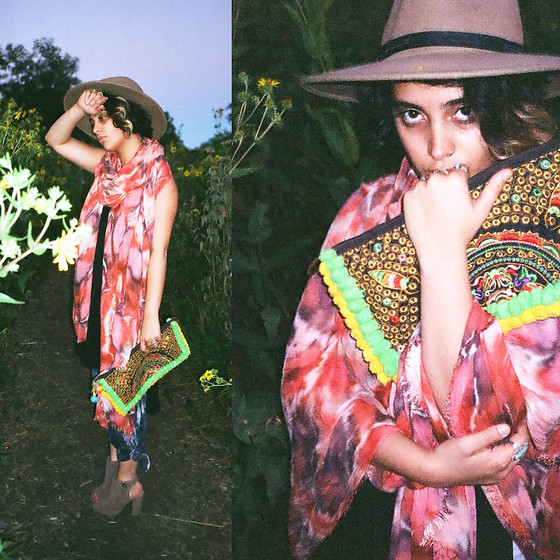 Shooka R - Nastygal Hat, Brightly Twisted Scarf, Brightly Twisted Pants - Dimensionality.