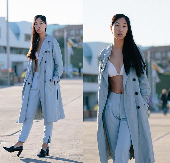 Cissy Zhang - Marc Jacobs Blue Trench Coat - Blue and cool