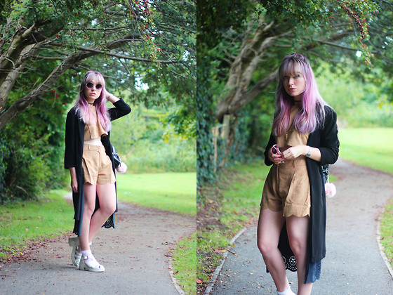 Peaches - Luxemme Suede Co Ord, Primark Duster Jacket - Suede Co-ord
