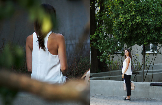 Ceci Bloom - Mango Top, Mango Pants, Adidas Shoes - Sporty elegance