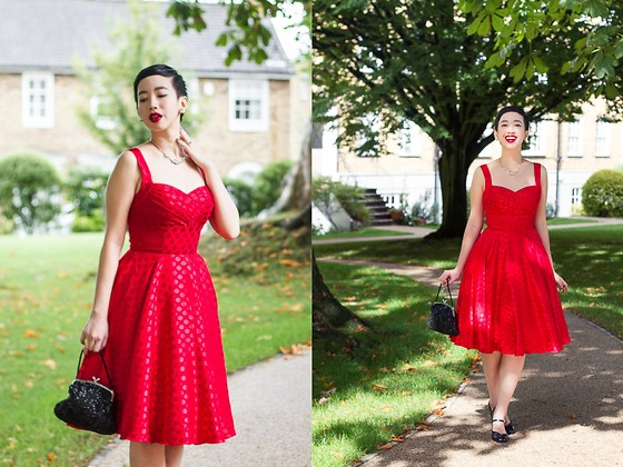 Nora Finds - Unique Vintage Polkadot Dress - I'm All Hearts