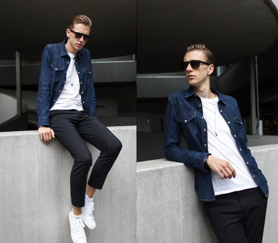 Oliver Lips Lee Denim Shirt, Adidas Stan Smith Mid