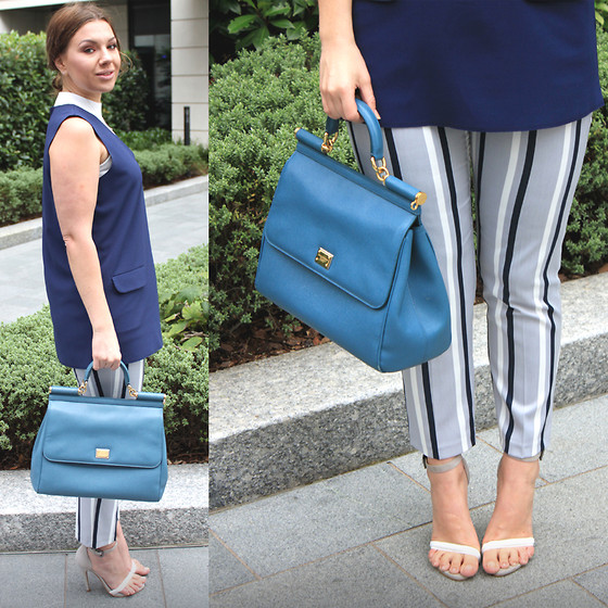 Yuiya @ Yukova Blog - Dolce & Gabbana Sicily Bag, Asos Sandals, Topshop Trousers, Topshop Top, Miss Selfridge Top - Stylish Office Outfit