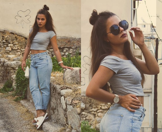 Isabella M. - Zara Top, Pull & Bear Mom Jeans, Random Local Store Sandals, Bershka Bag, Cndirect Sunnies - Good For You
