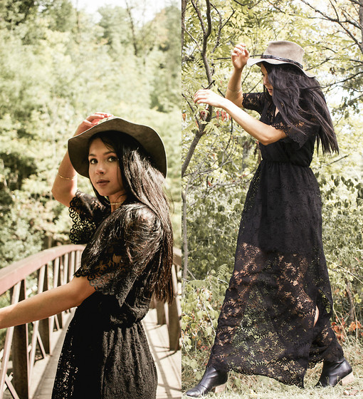 Jessica B. - Little Mistress Lace Dress, Erin Wasson Hat - Dream in lace