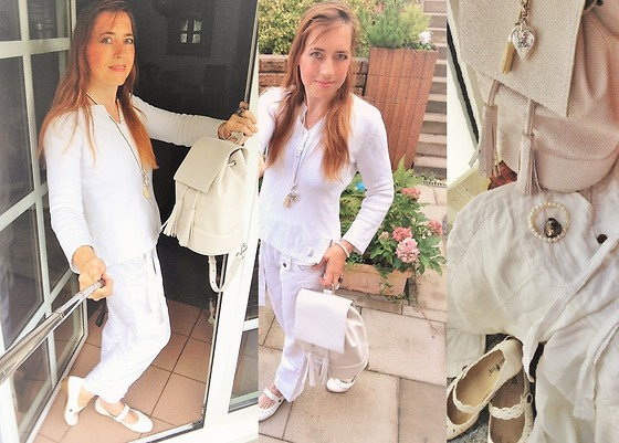 Nessy Wagner - Zara Backpack, Laura Berg Shoes, Blanc Du Nil Sweater, Blanc Du Nil Pants - Innocence don´t last very long...