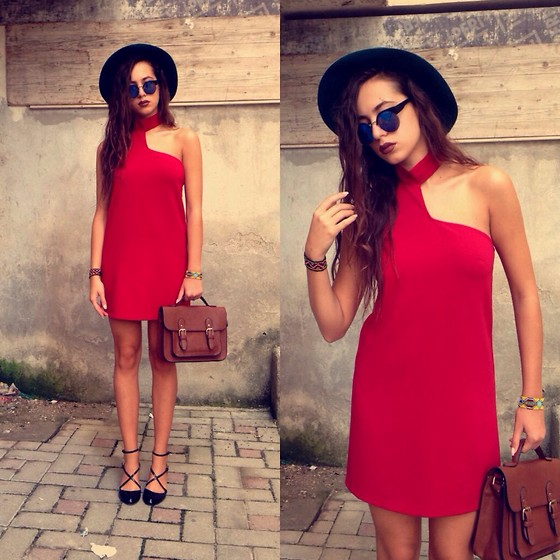 Fransi - Asos Sunglasses, Stradivarius Shoes - When in doubt wear red