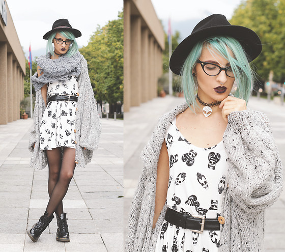 Gina Vadana - Iron Fist Clothing Dress, The Moon Cult Choker, 27jewelry Earrings, Freyrs Glasses - SKULL A BILLY