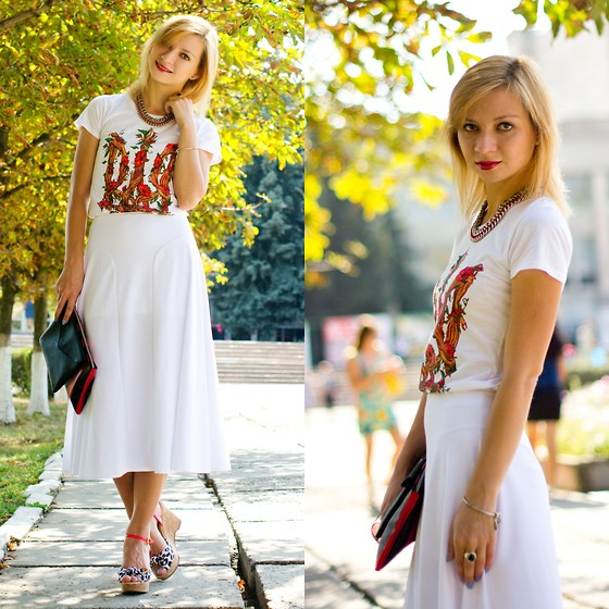 Svitlana L - Asos Skirt, Asos Clutch, Bershka Necklace - White&Smile