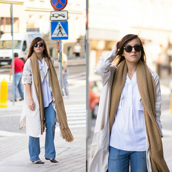 Daria R. - Choies White Oversize Shirt - Layers