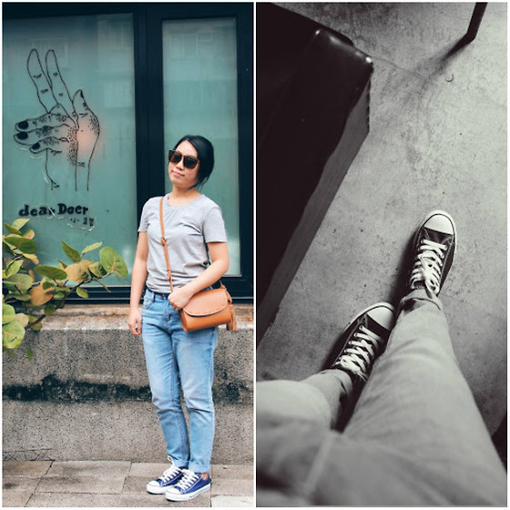 Cindy Chao - Net Jeans, Zara Bag - Walking Day
