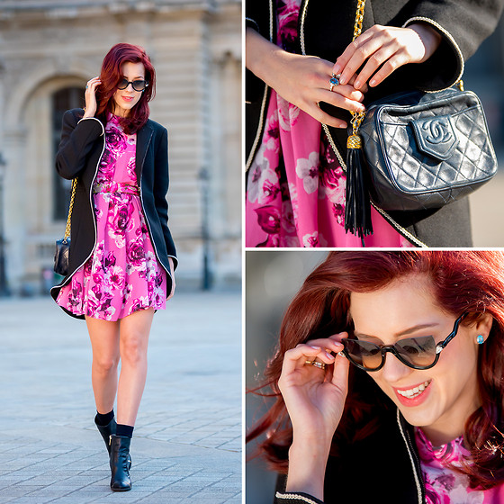 Sophia Abrahão - Patbo Pink Dress, Chanel Bag, Fendi Sunglasses - While in Paris