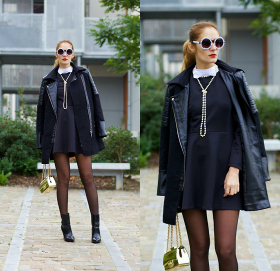 Ruxandra Ioana - Poppy Lovers Dress, Chichi London Coat - Boarding School