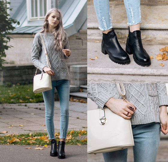 Mary Volkova - Http://Www.Yoins.Com/ Boots, Http://Www.Yoins.Com/ Ring, Bag, Sweater - Every Day