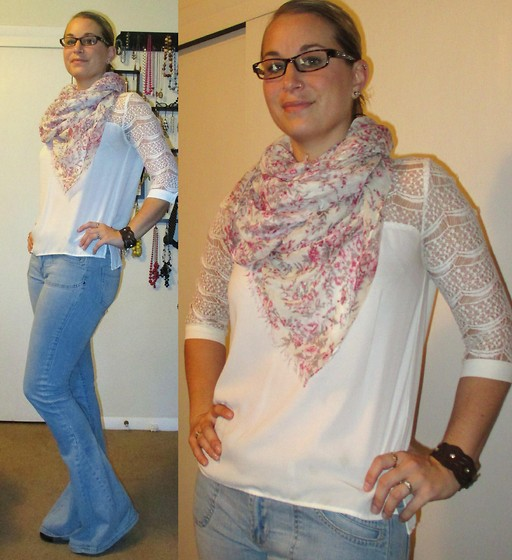 Erin Solberg -  - Casual in Floral Scarf