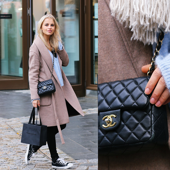 Caro Daur - Scotch & Soda Coat, Converse Shoes, Topshop Jeans, Gestuz Sweater - Casual