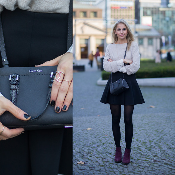 Caro Daur - Calvin Klein Bag, Asos Shoes, Zara Sweater - Mini bag
