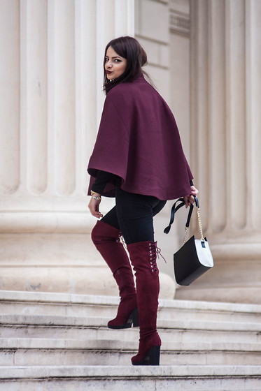 Kristina P. - Amyclubwear Boots, H&M Cape - French sunday