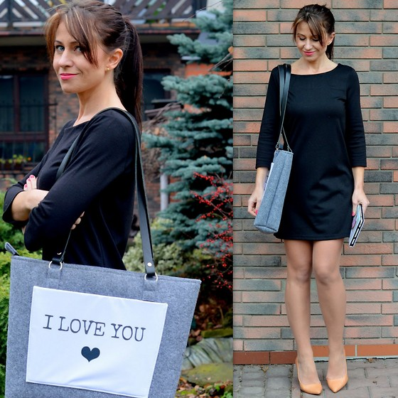 Ola Wiecha - H&M Dress, Youpibag Bag - I love you