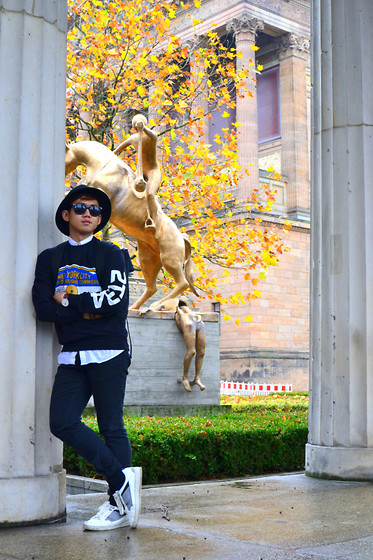 Kenn Cerbo - Topman Hat, Topman Pullover, Zara Shoes, Daniel Wellington Watch - BERLIN HITS