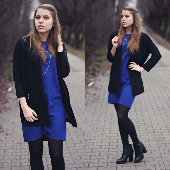 Plutss -  - Navy blue dress
