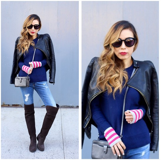 Sasa Zoe - 7 Different Colors; $58 Sweater, Jacket, Jeans, 30% Off Boots, Sunglasses, Bag - CUFF LOVE