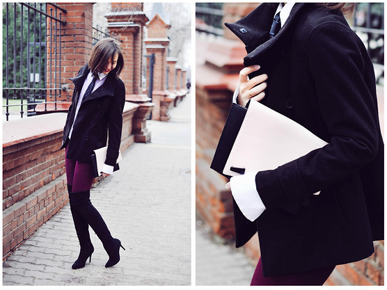 Daria Harman - H&M Over The Knee Boots, Miu Shirt, Alexander Mcqueen Tie - Some drama