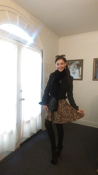 Sheri - Bcbg Blazer, Chanel Purse, Christian Louboutin Pumps - Animal Print Look