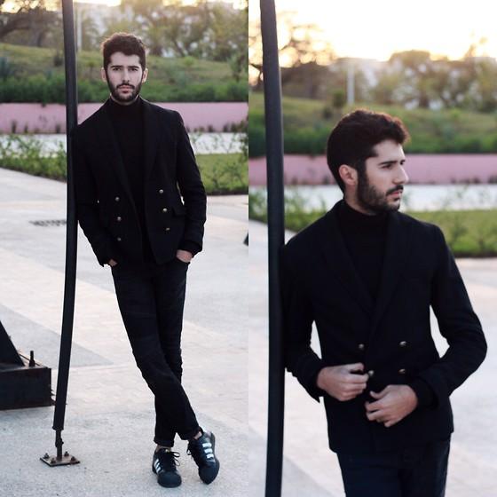 Khalil Zdaa Adidas Superstar All black everything | LOOKBOOK