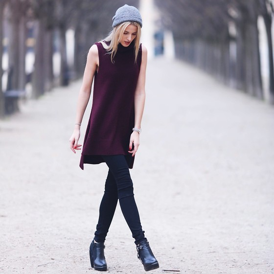 Meryl Denis - Primark Top, H&M Hat, Abercrombie & Fitch Jeans, H&M Shoes - Winter in Paris